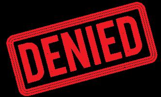 Statement of Reasons Denied Stamp
